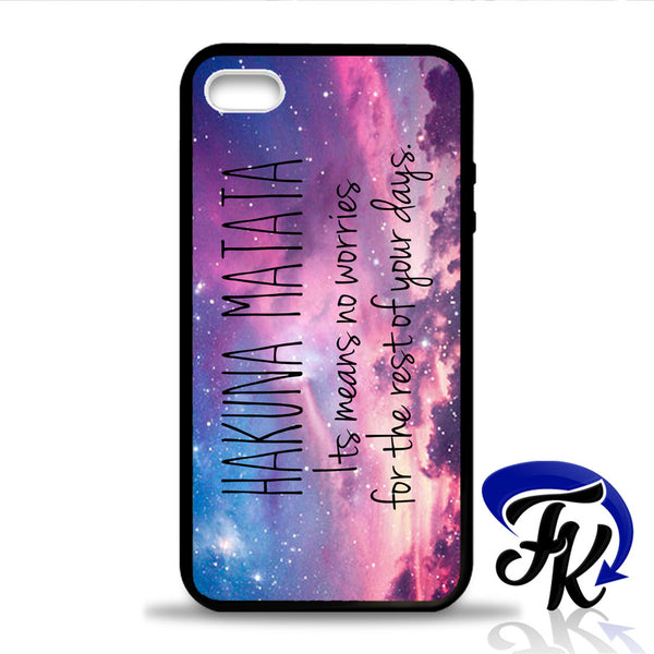 Hakuna Matata Means Phonecase, Case, Cover Plastic and Rubber for Samsung Galaxy Cases, iPhone Cases, iPod Cases