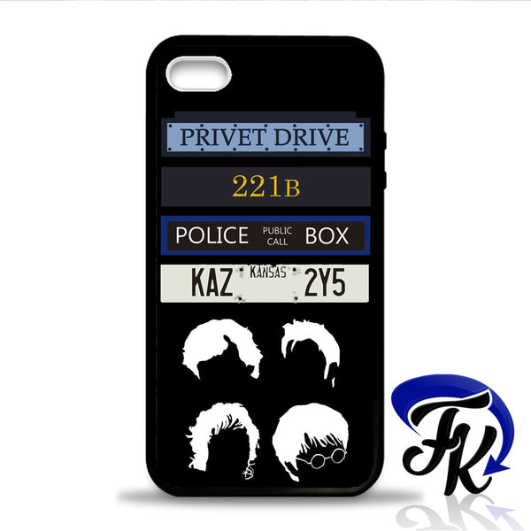 harry potter sherlock Holmes British Doctor Who Phonecase, Case, Cover Plastic and Rubber for Samsung Galaxy Cases, iPhone Cases, iPod Cases