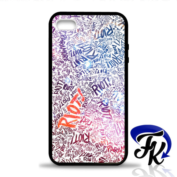 Paramore Riot Quote Colorfull Phonecase, Case, Cover Plastic and Rubber for Samsung Galaxy Cases, iPhone Cases, iPod Cases