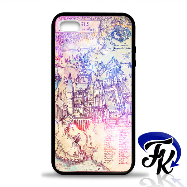 Colorfull Hogwart School Map Phonecase, Case, Cover Plastic and Rubber for Samsung Galaxy Cases, iPhone Cases, iPod Cases