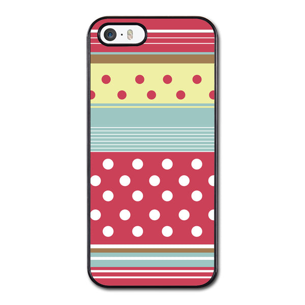 Colorful Stripes and pokadots Phonecase for iPhone 5/5S Case