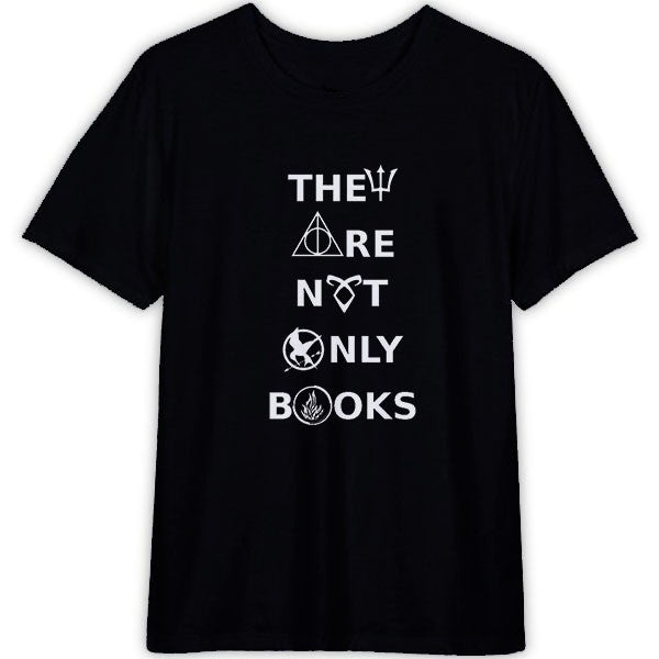They are Not Only Books T Shirt Unisex for Men's and Women's Cotton T-Shirt Color Black