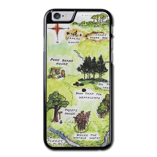 Hundred Acre Woods Map Winnie The Pooh Phonecase For iPhone 6/6S Case