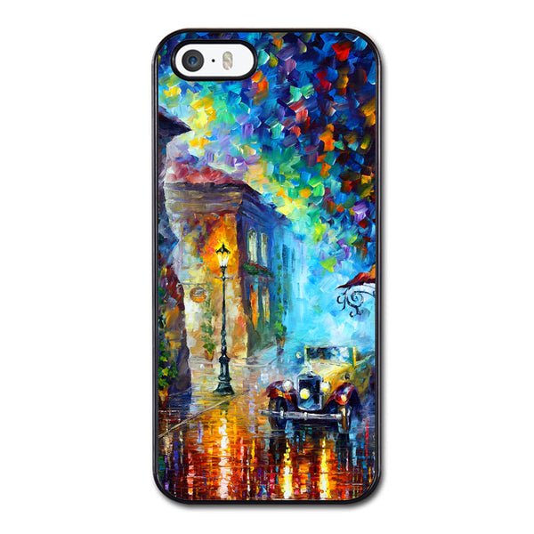 Painting Rain and Tree Car Street Phonecase for iPhone 5/5S Case