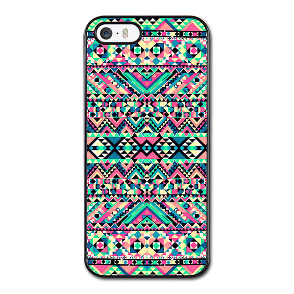 Pink Turquoise Girly Aztec Andes Tribal Pattern Phonecase for iPhone 5/5S Case
