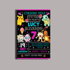 Pokemon Girls Birthday Party Card Digital Invitation