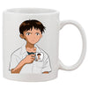 Shinjiception White 11 oz. Printing Ceramic Coffee Mug