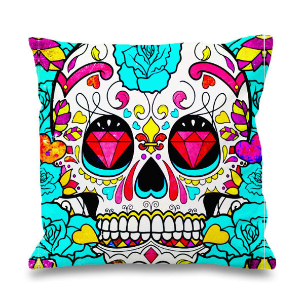 Sugar Skull Biamond Pillowcases Pillow Cases