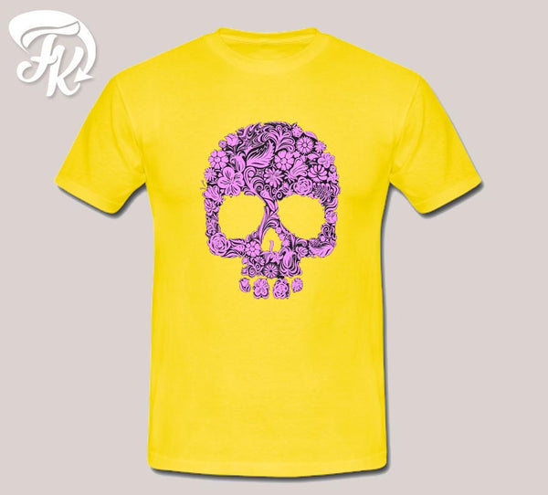 Pink Sugar Skull Design Design Men or Unisex T-Shirt