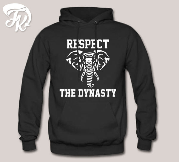 Respect The Dynasty Elephant Design Hoodie for men or Unisex
