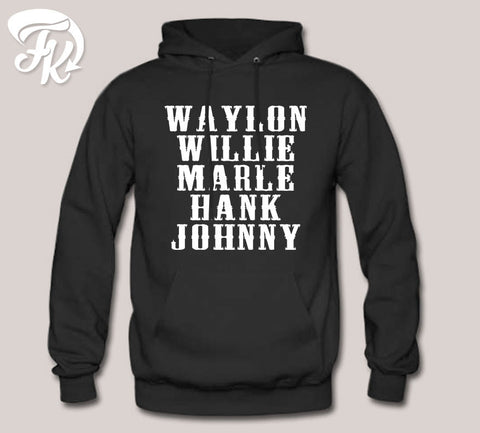 Hank Williams Johnny Cash Country Legend Design Hoodie for men or Unisex
