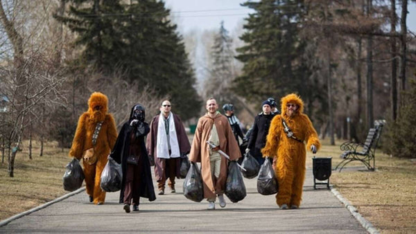 Cosplay characters sweep streets of Siberia clean to mark first human space flight | Xcoser International Costume Ltd.