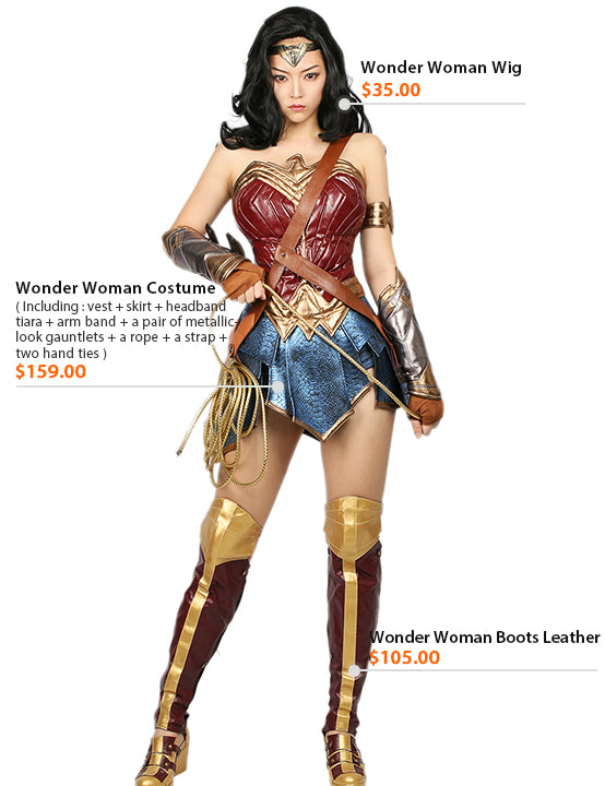 Size Chart Wonder Woman Wig Wonder Woman Boots Leather Wonder Woman Costume  sc 1 st  Xcoser cosplay costume mask and props & Xcoser Justice League Wonder Woman Cosplay Costume u2013 Xcoser Costume