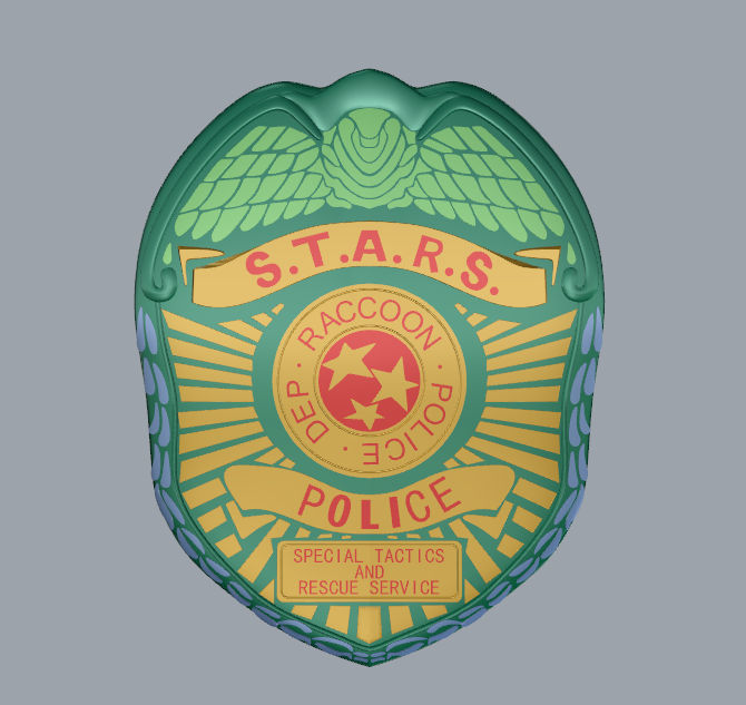 Resident Evil 2 S.T.A.R.S. Badge computer graphics