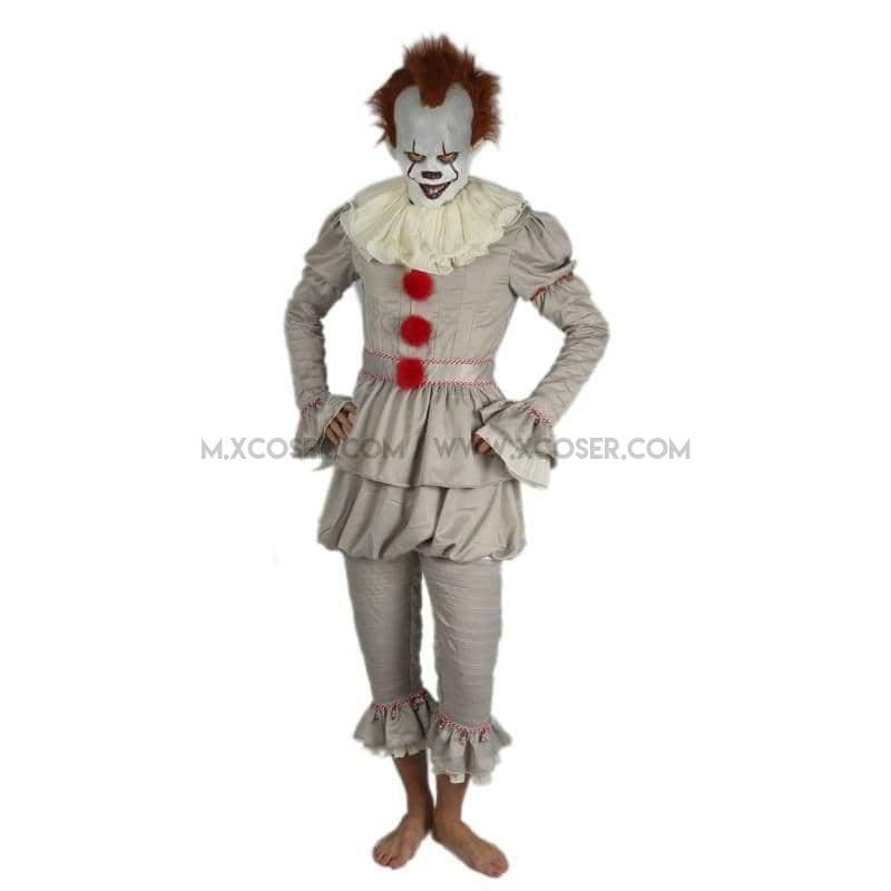 2017 Stephen Kings It Pennywise The Dancing Clown Full Cosplay Costume Halloween Suit Sale - Costumes 2