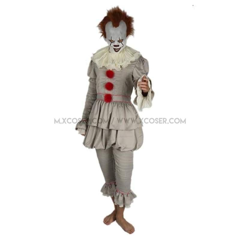2017 Stephen Kings It Pennywise The Dancing Clown Full Cosplay Costume Halloween Suit Sale - S / Updated Version - Costumes 1