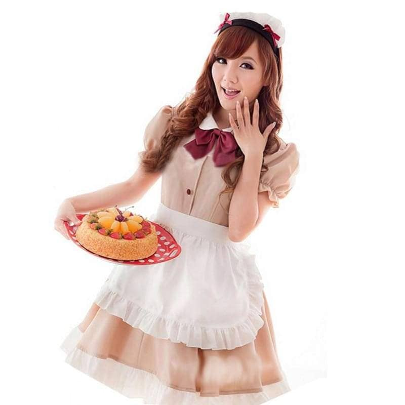 Anime Cosplay Maid Costume Sweet Waitress Performance Fancy Dress - Costumes 1