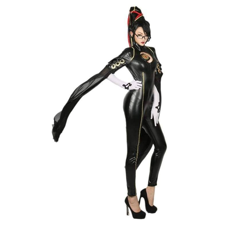 Bayonetta Black PU Costume Game Cosplay CostumesS- Xcoser International Costume Ltd.