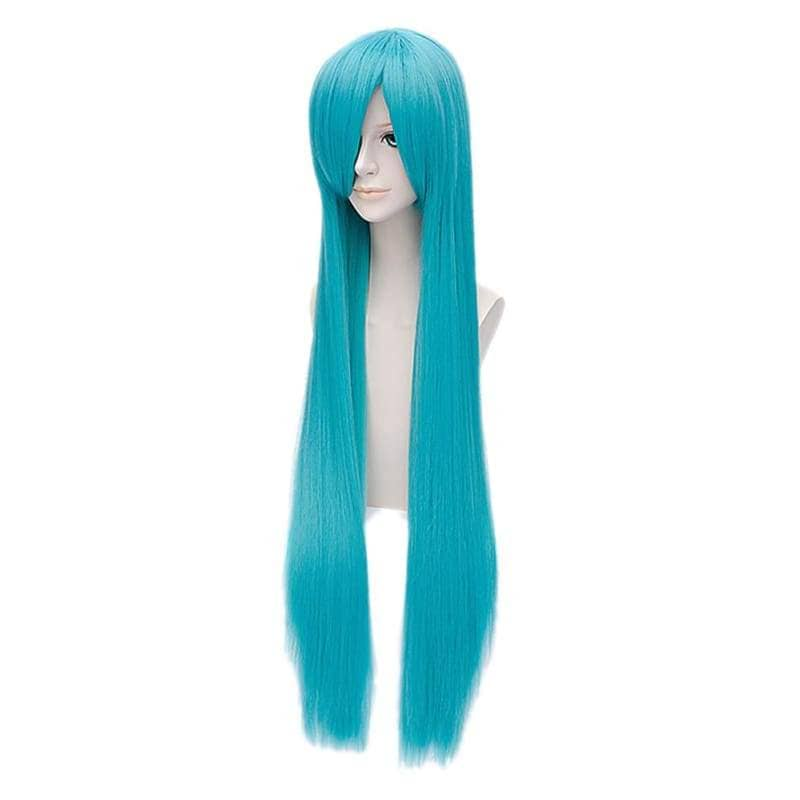 Bisca Mulan Cosplay Wig Fairy Tail Anime Long Straight Blue Costume - Wigs 3