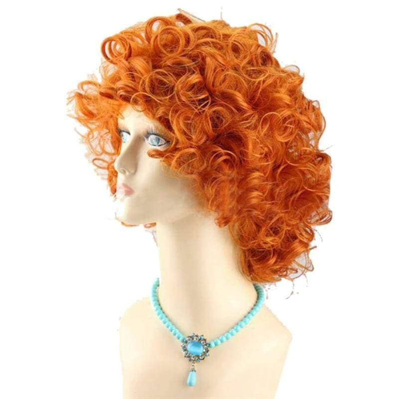 Brave Merida Wig Princess Cosplay Short Curly Orange Costume - Wigs 3