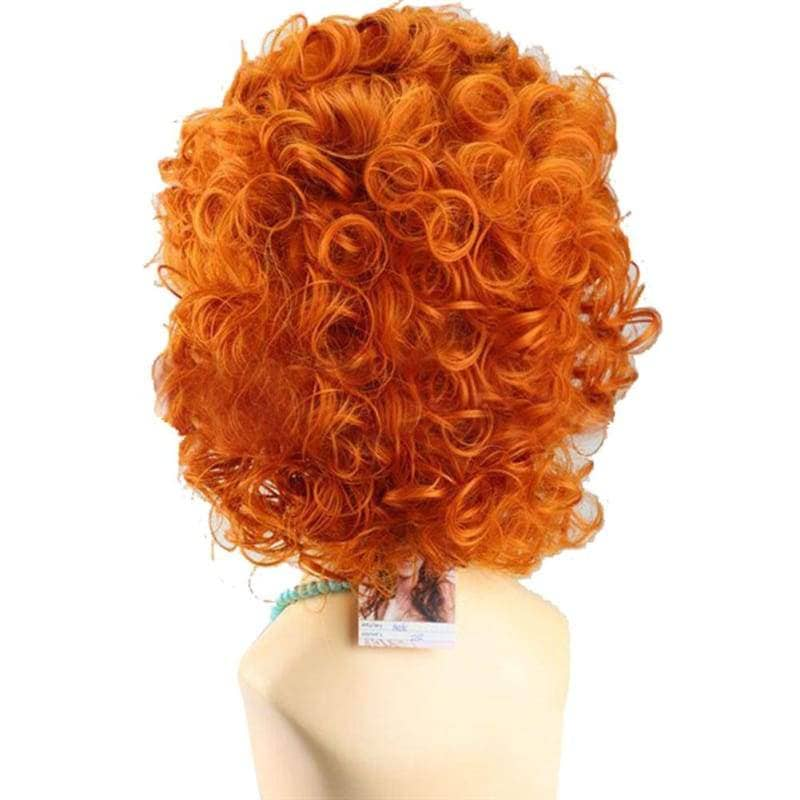Brave Merida Wig Princess Cosplay Short Curly Orange Costume - Wigs 2