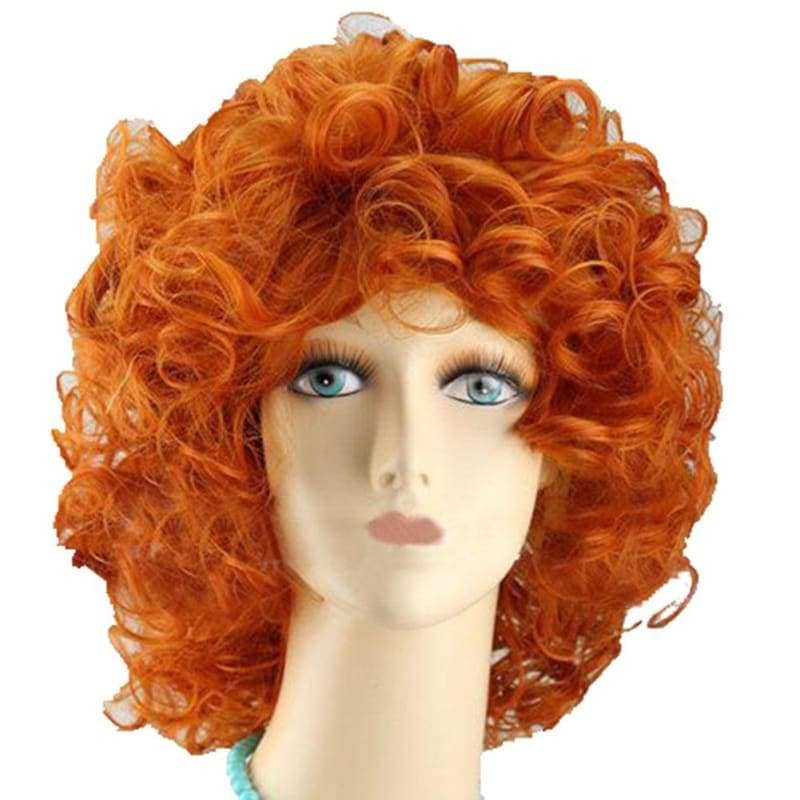 Brave Merida Wig Princess Cosplay Short Curly Orange Costume - Wigs 1