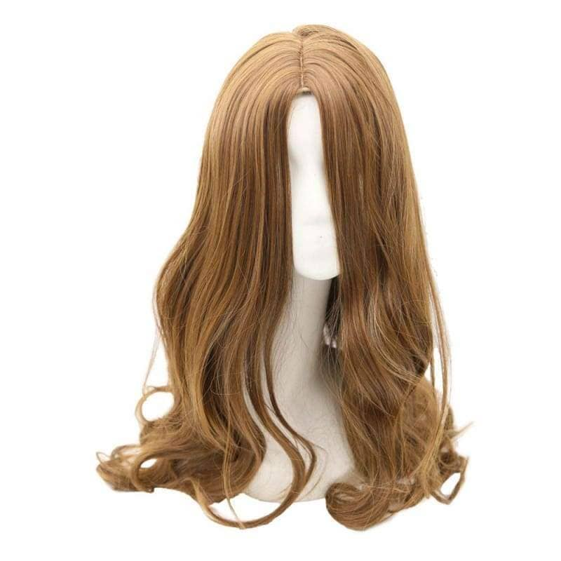 Captain America: Civil War Scarlet Witch Wig Long Brown Wavy Cosplay - Wigs 1