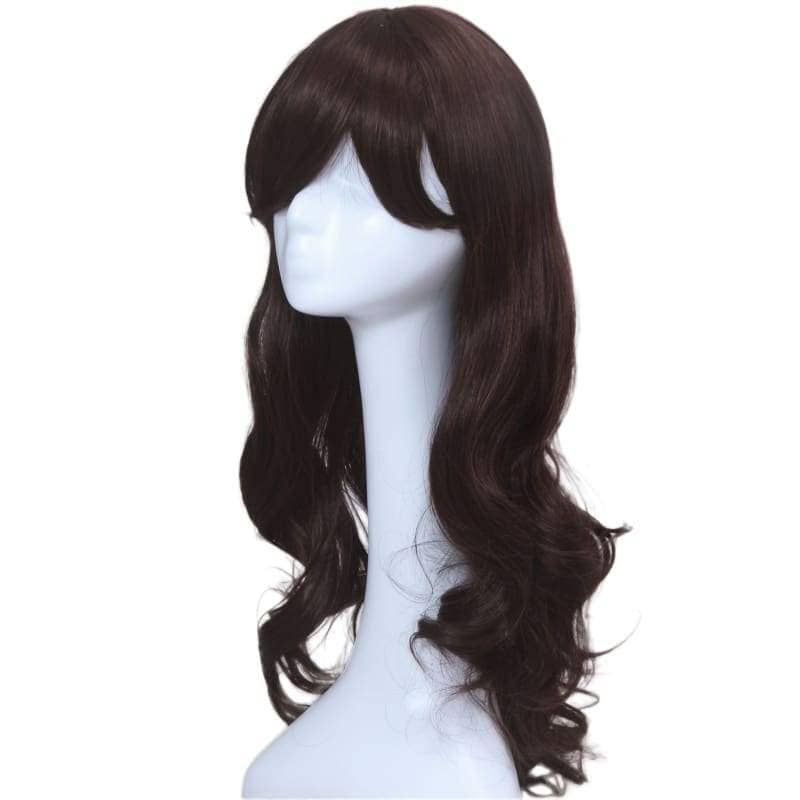 Carmen Sandiego Wig Cosplay Costume Black Long Curly Hair Accessories - Wigs 2
