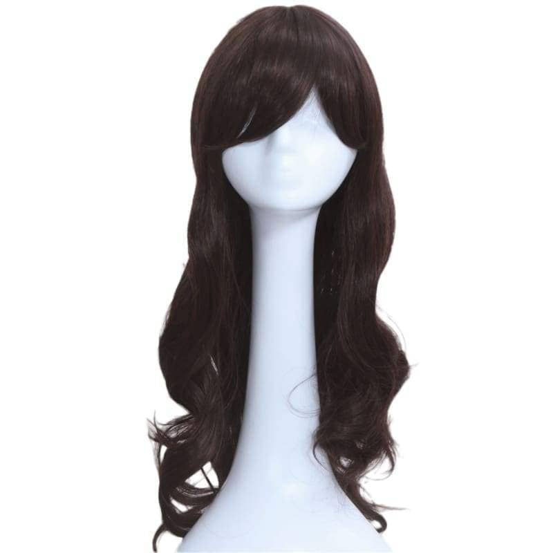 Carmen Sandiego Wig Cosplay Costume Black Long Curly Hair Accessories - Wigs 1