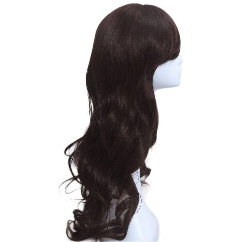 Carmen Sandiego Wig Cosplay Costume Black Long Curly Hair Accessories - Wigs 4