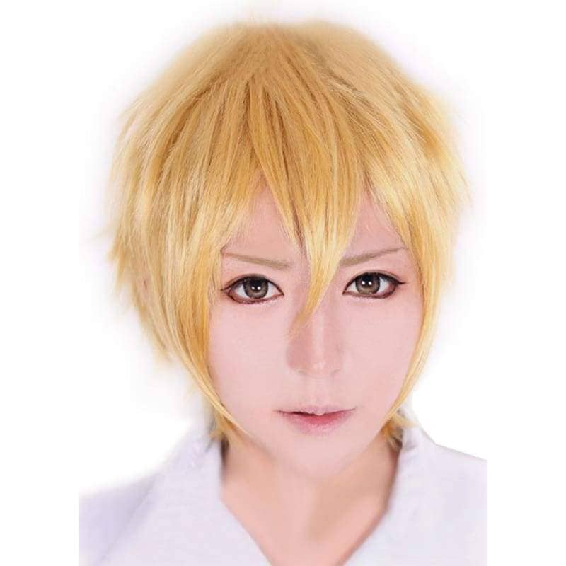 Colonnello Wig Katekyo Hitman Reborn Cosplay Short Straight Golden Blonde Hair Anime Universal Style - Wigs 1