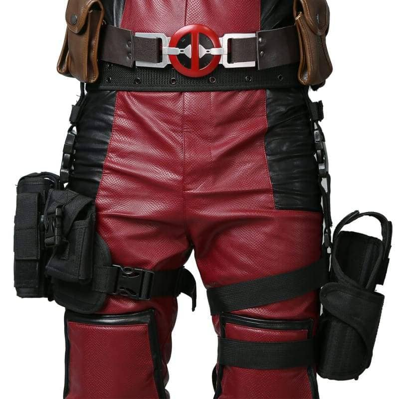 Deadpool Wade Wilson Belt & Tactical Leg Bag Pockets Holster Props - 1