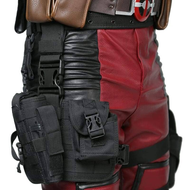 Deadpool Wade Wilson Belt & Tactical Leg Bag Pockets Holster Props - 4