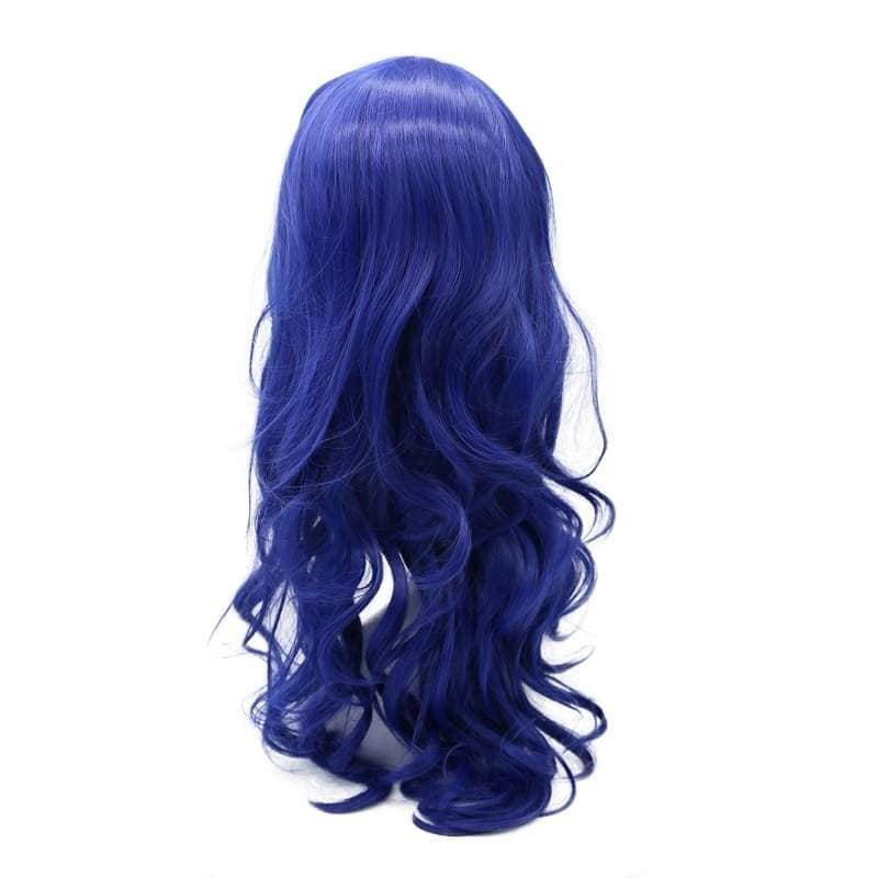 Descendants Evie Wig Movie Cosplay Costume Blue Long Curly Hair Accessories - Wigs 3