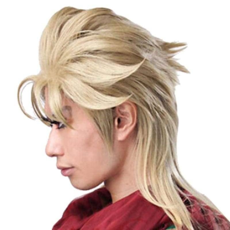Dio Brando Wig Short Light Golden Cosplay Anime 45cm Jojo's Bizarre Adventure - Wigs 3