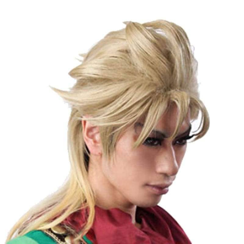 Dio Brando Wig Short Light Golden Cosplay Anime 45cm Jojo's Bizarre Adventure - Wigs 4