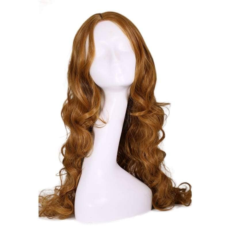 Elektra Wig Daredevil Cosplay Costume Brown Long Curly Wavy Hair Accessories - Wigs 1