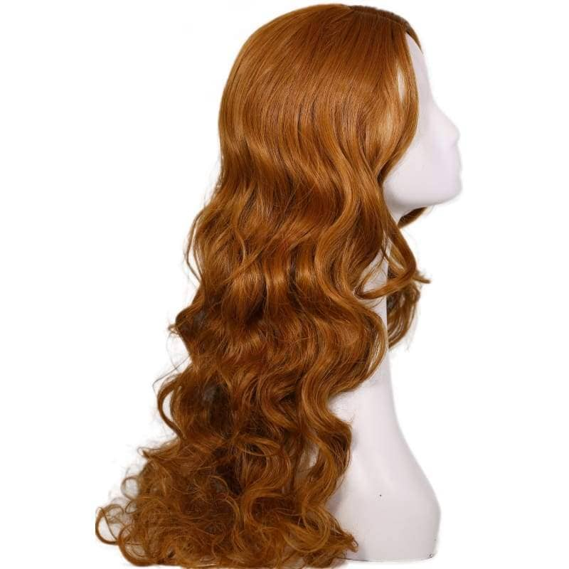Elektra Wig Daredevil Cosplay Costume Brown Long Curly Wavy Hair Accessories - Wigs 5