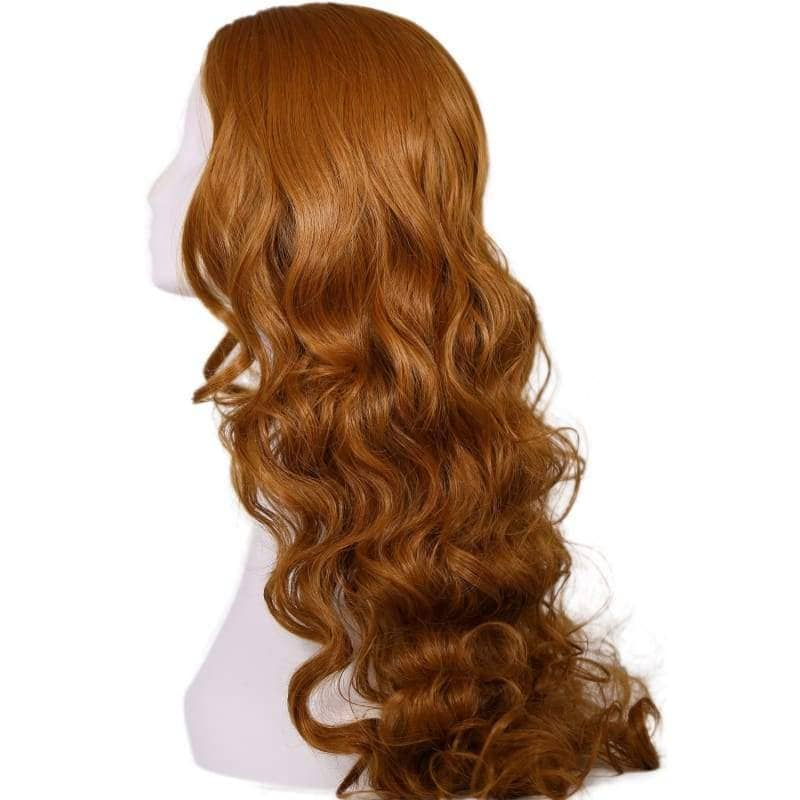 Elektra Wig Daredevil Cosplay Costume Brown Long Curly Wavy Hair Accessories - Wigs 3