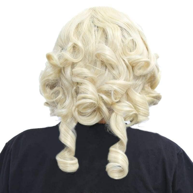 Fairy Godmother Wig Cinderella Cosplay Golden Curly - Wigs 2