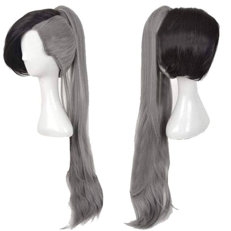 Fairy Tail Future Rogue Cheney Cosplay Long Gray Wig with Clip on Ponytail - Wigs 2