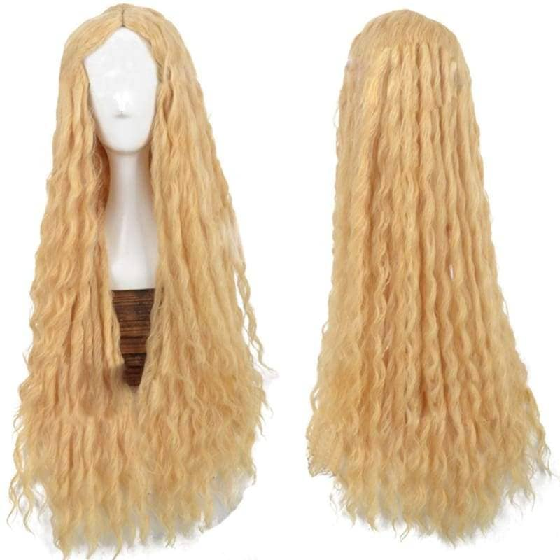 Galadriel Wig The Hobbit Cosplay Yellow Long Curly - Wigs 1
