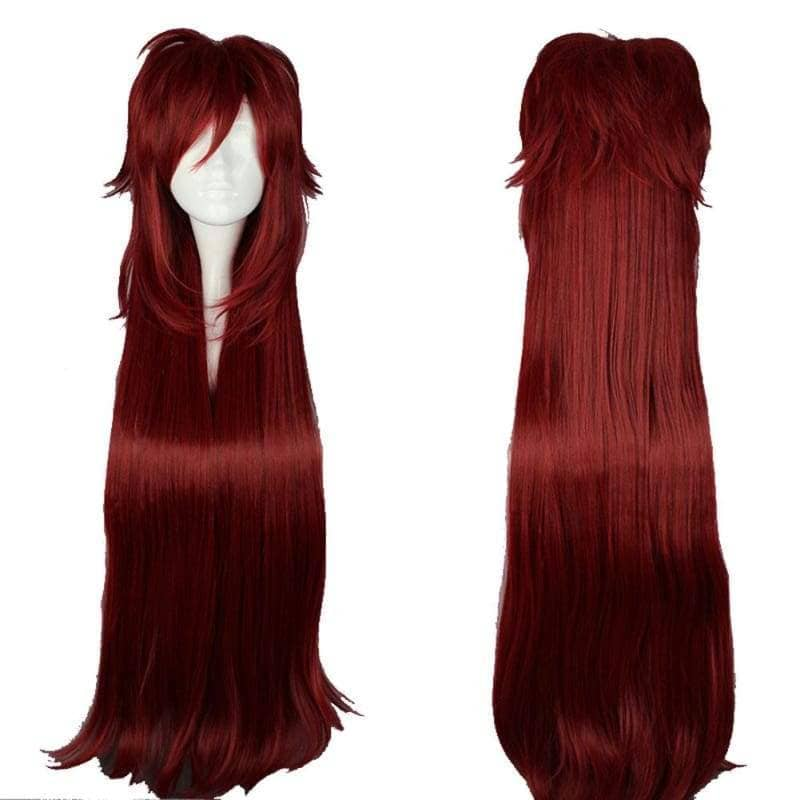 Grell Sutcliff Wig Black Butler Cosplay Long Red Anime - Wigs 1
