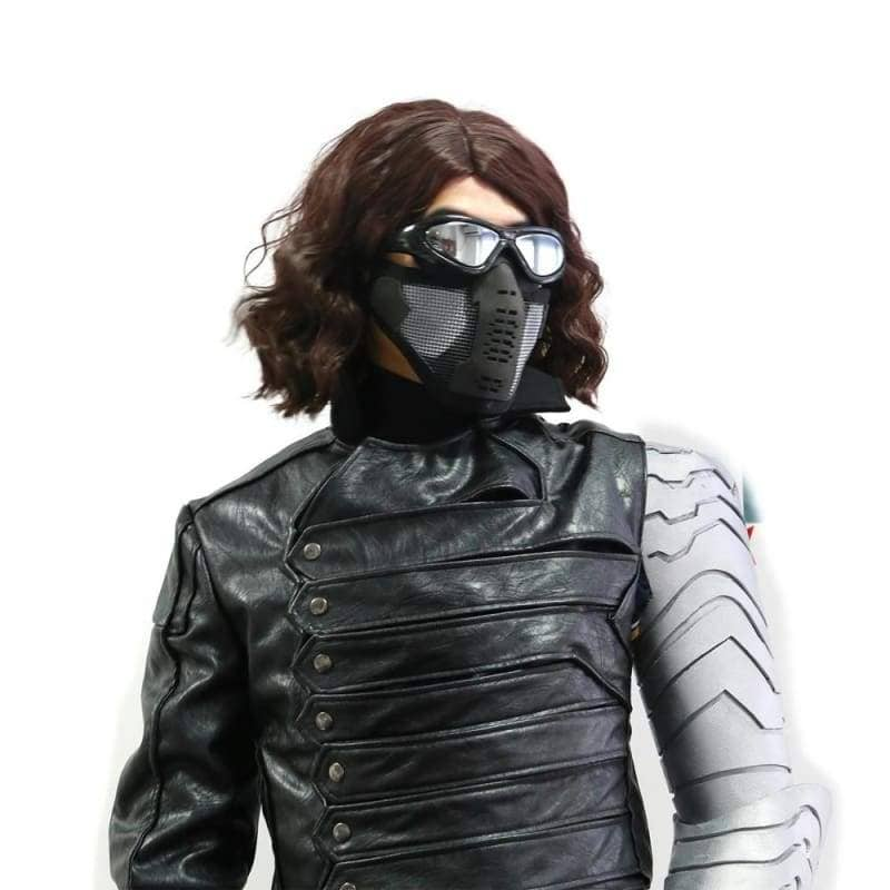 Halloween Cosplay XCOSER Captain America: The Winter Soldier Cosplay Winter Soldier Mask Replica, Mask- Pro Cosplay Shop Customer Service in Xcoser - Costume - Helmets