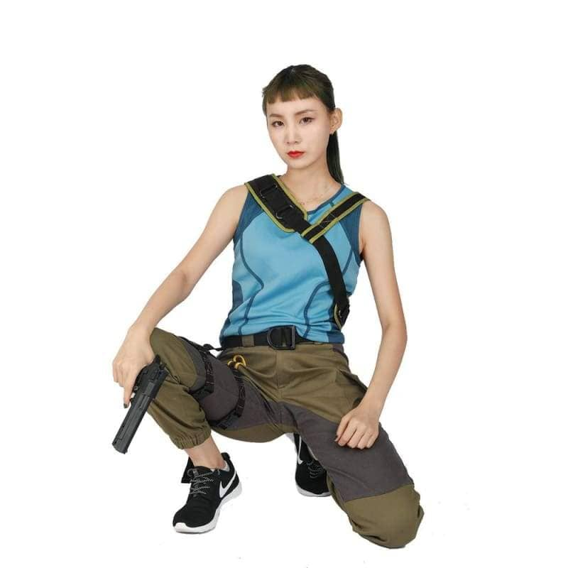 Halloween Cosplay Xcoser Shadow Of The Tomb Raider Movie Cosplay Lara Croft Lake Blue Army Green Costume