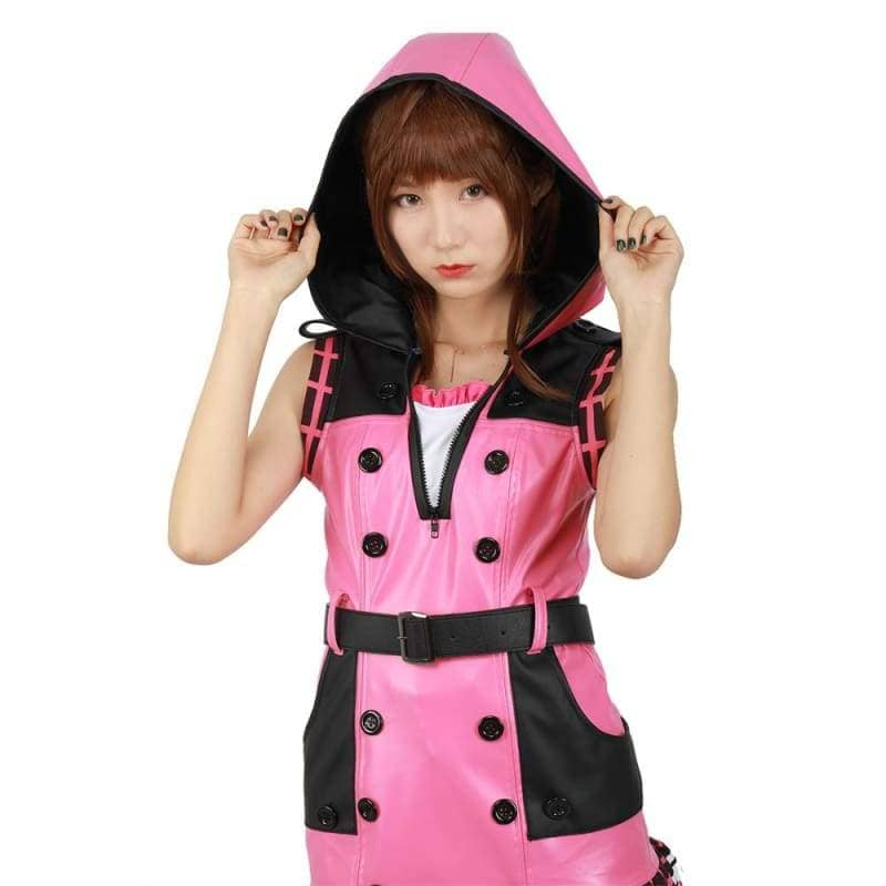 Haloween Cosplay XCOSER Kingdom Hearts III Game Cosplay Kelly Pink One-piece Dress Cosplay Costume CostumesCustomMade- Xcoser International Costume Ltd.