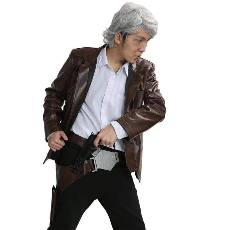 Han Solo Costume Star Wars 7 The Force Awakens Cosplay Movie Version With Belt Holster? CostumesS- Xcoser International Costume Ltd.