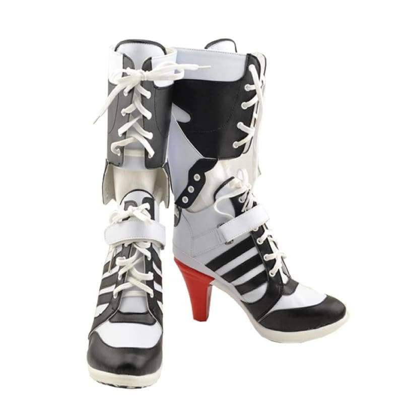 Harley Quinn Shoes Suicide Squad Cosplay Pu Knee High Boots Custom Made - Female 42(Us 10) - 1