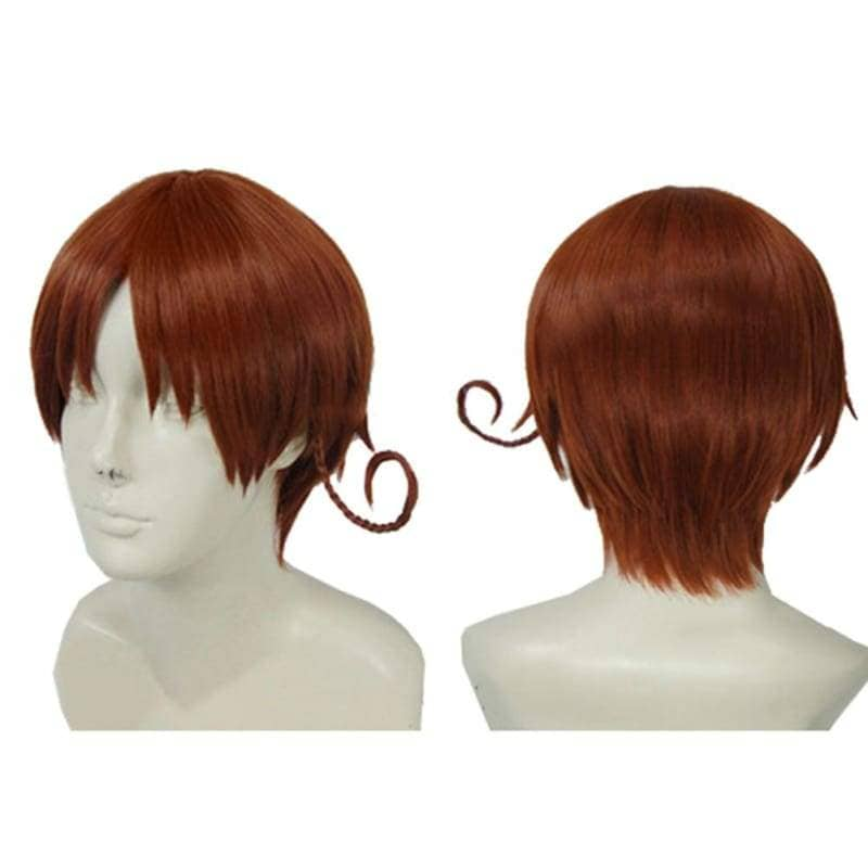Hetalia North Italy Wig Axis Powers Feliciano Vargas Cosplay Short Brown - Wigs 2