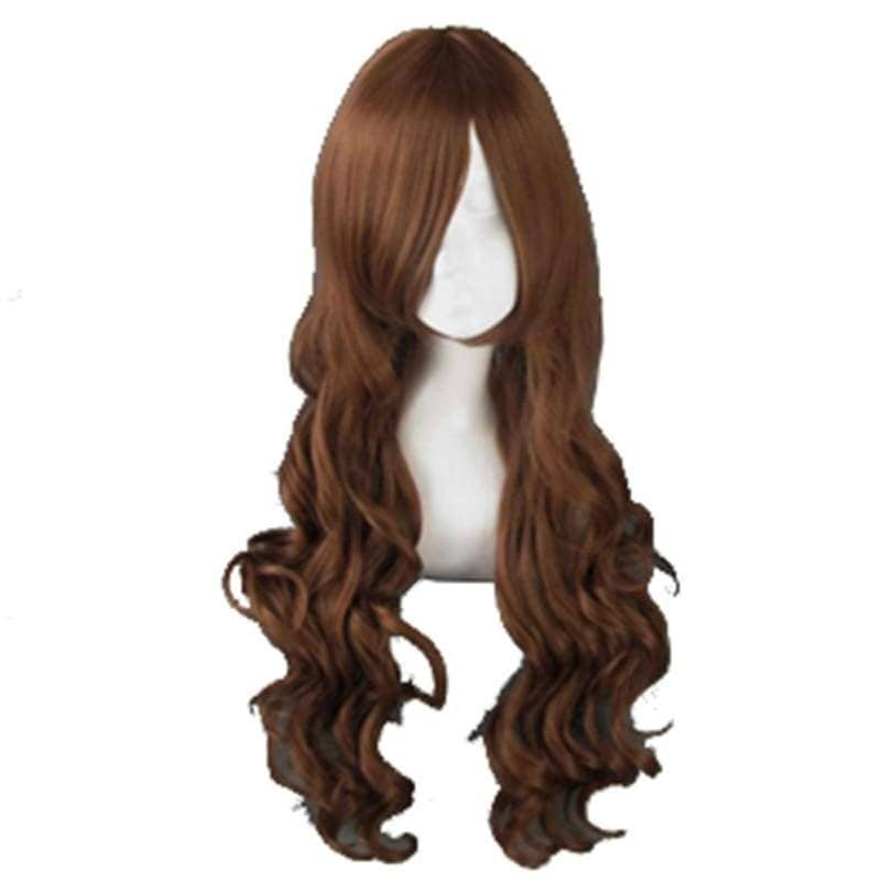 Hetalia Taiwan Wig Axis Powers Cosplay Long Curly Dark Brown Hairpiece - Wigs 1